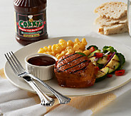 Corkys BBQ (8) 6 oz. Bacon Wrapped Pork Filets w/ 18oz Sauce - M45644