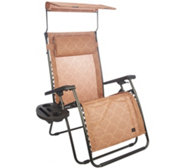 Bliss Hammocks Deluxe XL Gravity Free Recliner w/Canopy & Tray