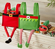 10/31 Cheryls Elf and Santa Gift Bag - Set of2 - M115346