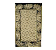 Palm Leaf Design 5 x 8 Reversible Outdoor Mat by Patiomats - M42846
