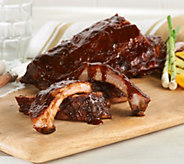 Corkys BBQ (6) 1 lb. Baby Back Rib Racks with Sauce - M55046