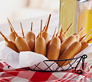 Vienna Beef (24) 3.25 oz. Batter Dipped All Beef Corndogs - M50447