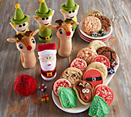 Ships 11/1 Cheryls Holiday Plush Bowling Set with Cookies - M115948