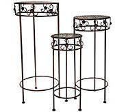 Barbara King Set of 3 Wrought Iron Nesting Tables - M51948