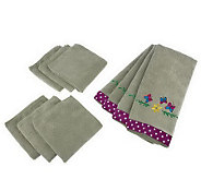Don Asletts Set of 10 Microfiber Kitchen Towels and Cloths - M113549