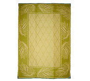 Palm Leaf Design 8 x 11 Reversible Outdoor Mat by Patiomats - M42849
