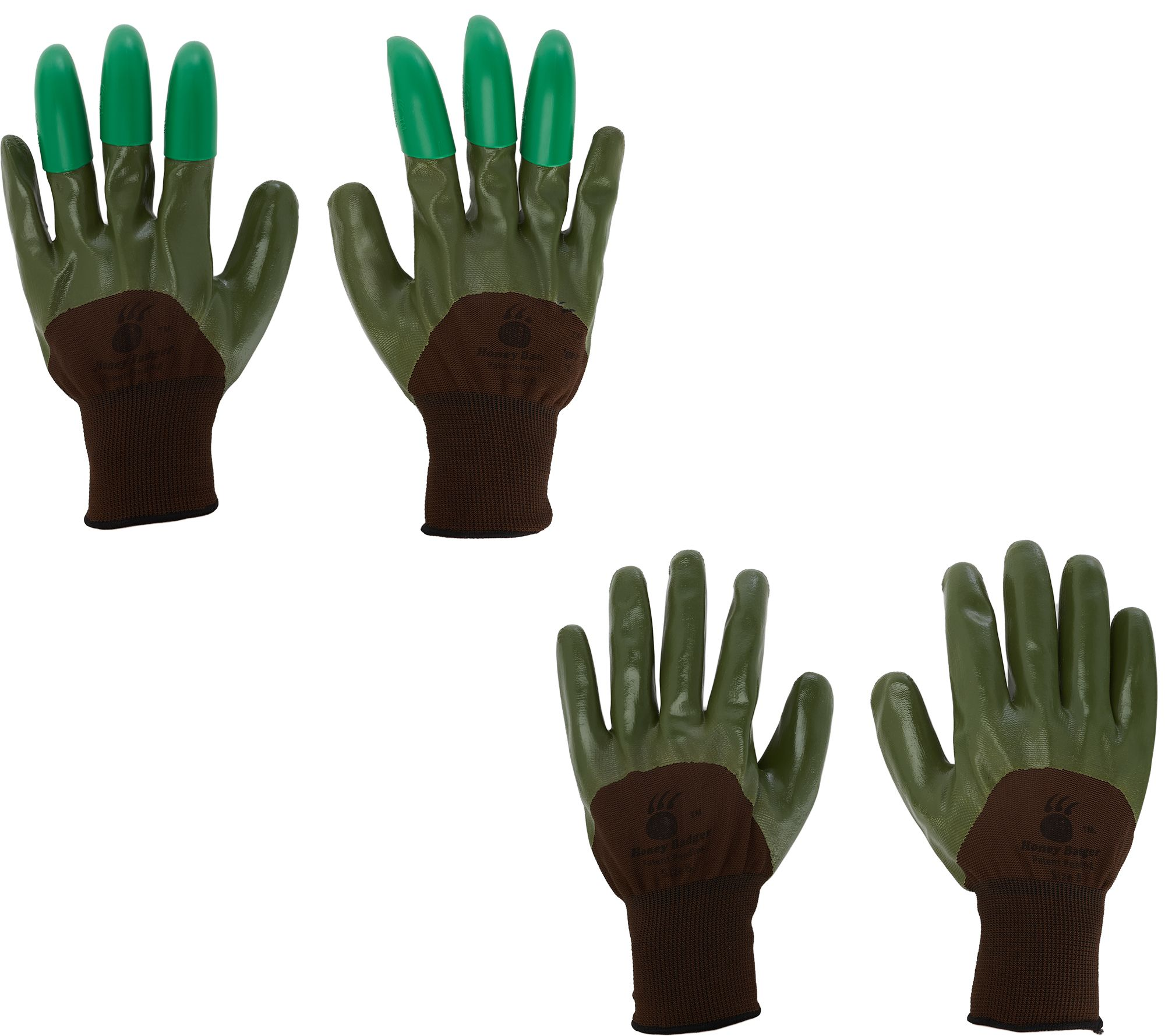 Honey Badger Garden Gloves With Digging Claws Combo Pack Page 1