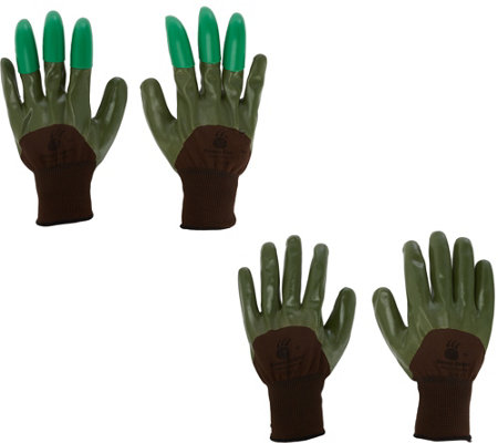 Honey Badger Garden Gloves with Digging Claws Combo Pack