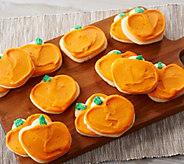 Cheryls 24-Piece Buttercream Frosted Pumpkin Cutouts - M56249