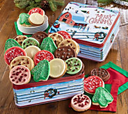 Ships 11/1 Cheryls Merry Christmas Tin - 24 Cookies - M115950