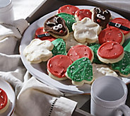 Cheryls 36 Piece Holiday Frosted Cutout Cookies - M52250