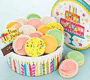 Cheryls Birthday Candle Gift Tin with 16 Frosted Cookies - M115051