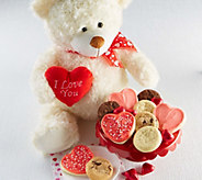 Cheryls Valentines Cuddle Bear with Treats - M116752