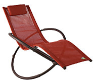 As Is Outdoor Orbital Lounger Ultimate Relaxation Chaise - M120052