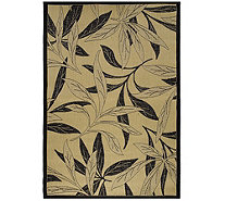 "Bliss Hammocks 7'10""W x 10'6""L Indoor/Outdoor Stain Resistant Fern Rug - M46352"