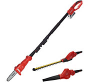 Sun Joe 24V 3-in-1 Cordless Blower Pole Saw and Hedge Trimmer - M53452