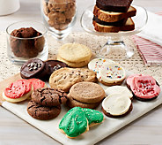 Ships 12/4 Cheryls 60 Piece Holiday Cookie & Cake Sampler - M55552