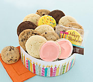 Cheryls Birthday Candle Gift Tin with 16 Assorted Cookies - M115053