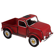 Plow & Hearth Solar Vintage Truck Metal Planter - M55753