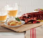Corkys BBQ (2) 2 lb. Ribs Rack Original Sauce w/ 2lb. Cobbler - M49854