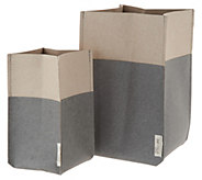 Set of 2 Two Toned Leather Plant Pouches - M55854