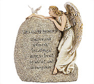 Josephs Studio 11-1/4 Memorial Angel Garden Stone - by Roma - M114555