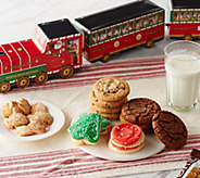 Cheryls 4-Piece Santa Train Set with 52 Holiday Cookies - M55555