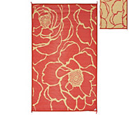 Barbara King Bloom 5x8 Reversible Outdoor Mat by PatioMats - M46356