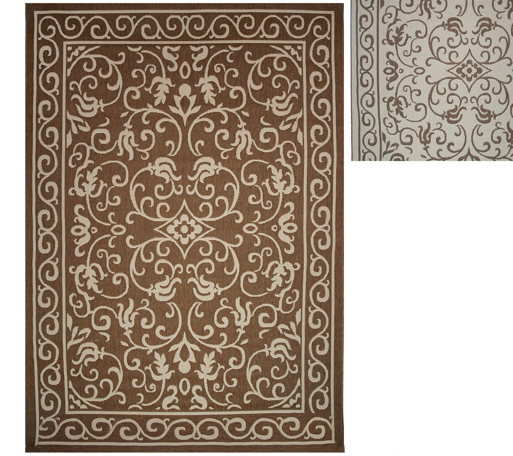 Veranda Living Indoor Outdoor Reversible 7 x 10 Scroll Rug Page