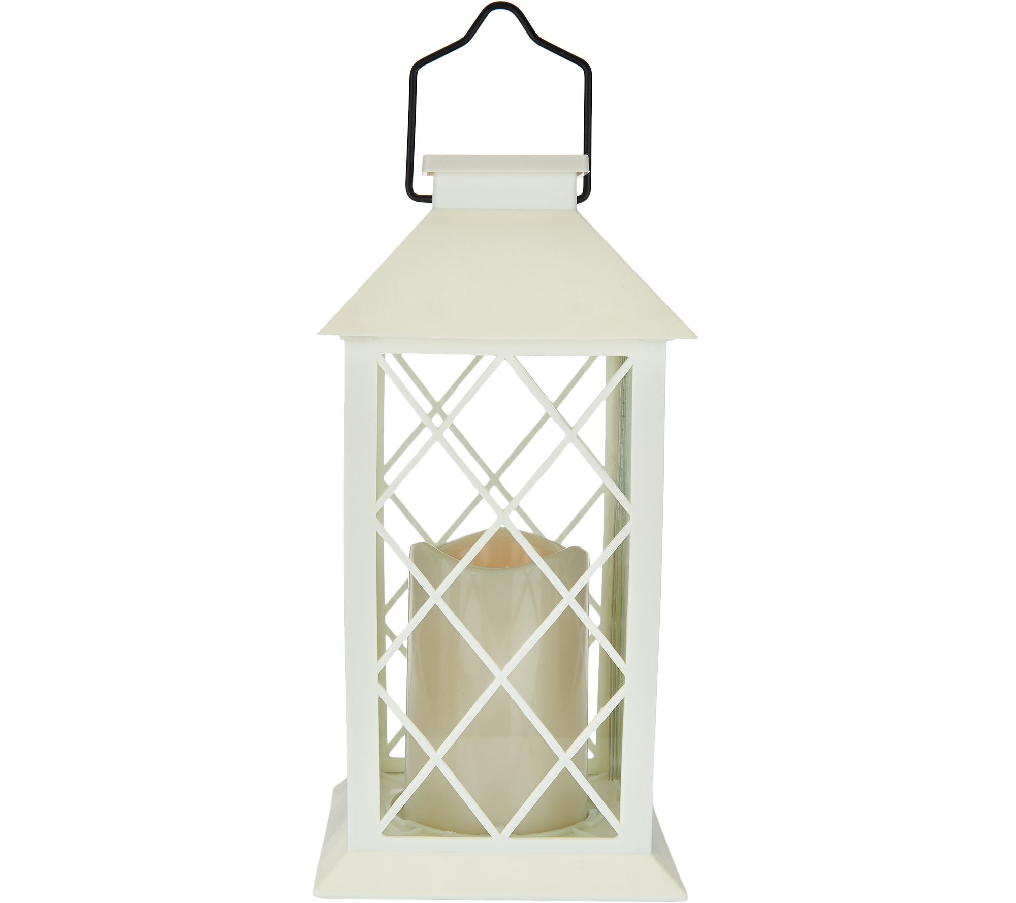 Qvc Outdoor Wall Lights: Barbara King Indoor/Outdoor Solar Lantern With Flameless