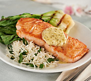 Martha Stewart (8) 6-oz Atlantic Salmon Filets w/ Butter - M58056