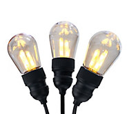 As Is BethlehemLights 13.5 Vintage Edison Bulb Light Strand - M120057
