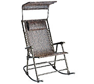 Bliss Hammocks Deluxe Foldable Rocking Chair with Sun Shade - M45957