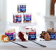 CAKELOVE Set of 12 Single Serve Cakes in a Jar Assortment - M52557