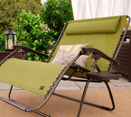 Medium image of bliss hammocks 2 person gravity free recliner with pillow   page 1  u2014 qvc