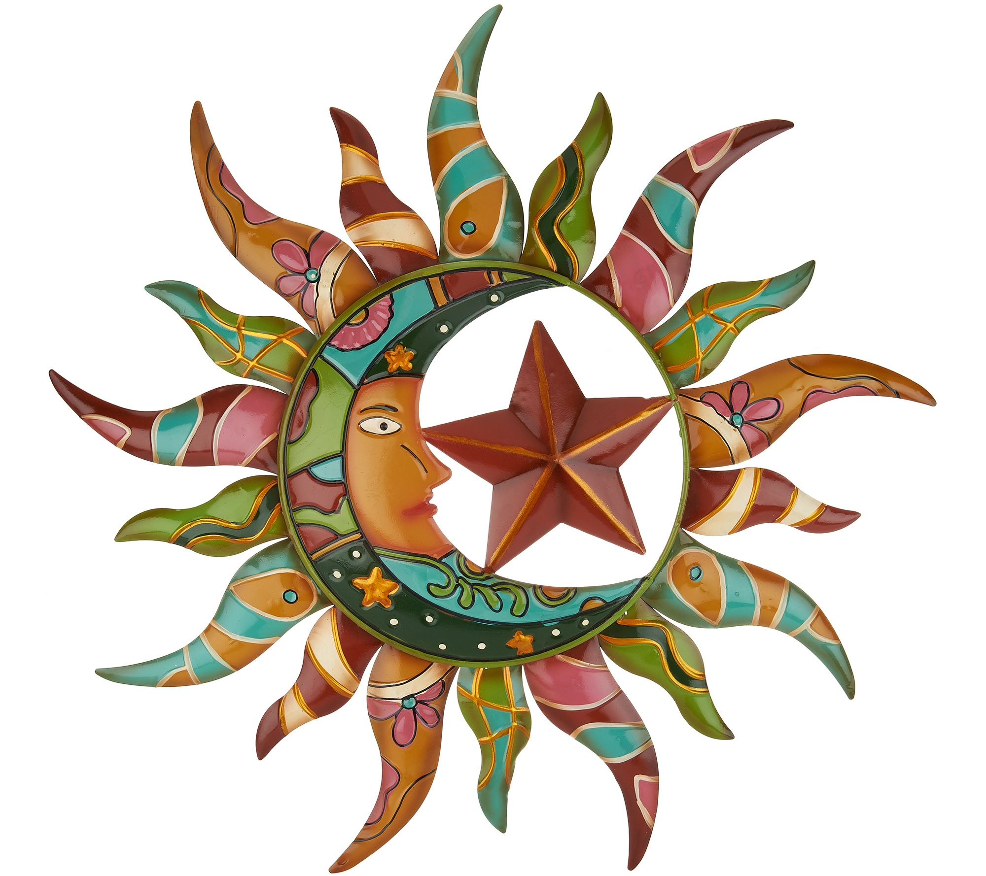 Plow & Hearth Talavera Sun & Moon Wall Art