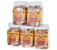 Germack (5) 10 oz. Jars of Honey Nut and Toffee Mix - M52558