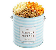 Hampton Popcorn Classic 1-Gallon Tin with 3 Gourmet Flavors - M111859