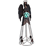 Plow & Hearth Metal Angel with Solar Crackle Ball - M45459