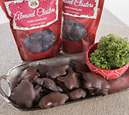 SH 10/31 Landies Candies Dark Chocolate AlmondCluster 3 Bags - M115360