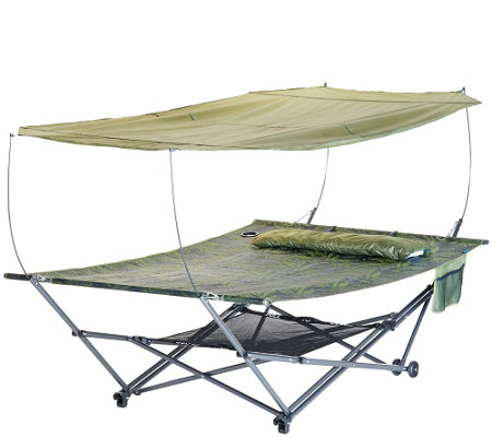 Bliss Hammocks 2 Person Stow Ez Hammock With Canopy