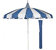 ED On Air 8 Pagoda Umbrella w/ Cover by Ellen DeGeneres - M49560