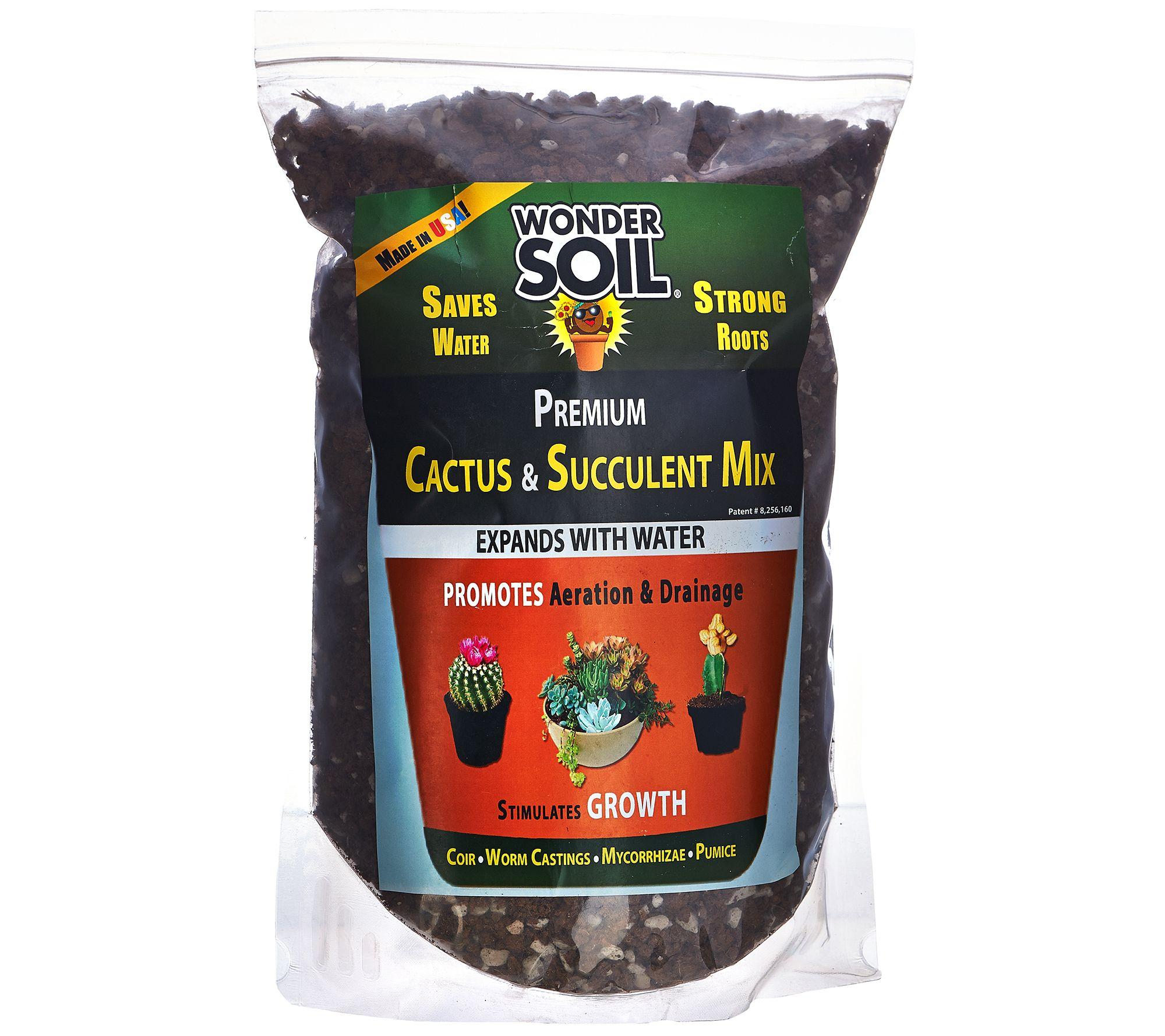 Wonder soil 3lb bag cactus and succulent expanding soil for Is soil a mixture