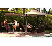 Compass Home 8x8 No Tools Gazebo with Awning & Anchor Bags - M52460