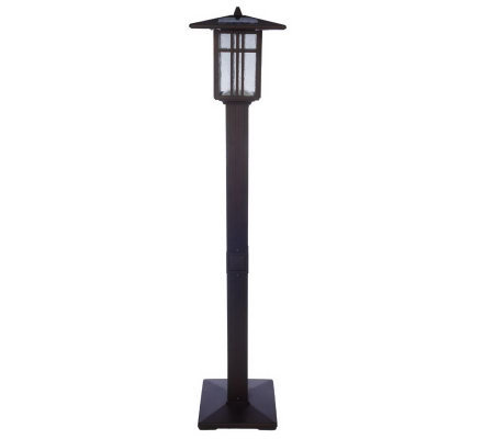 alpan 10 led solar powered ac powered mission style lamp post. Black Bedroom Furniture Sets. Home Design Ideas