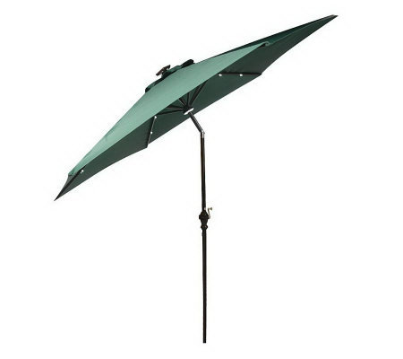 southern patio 10 39 solar crank tilt umbrella w morphing white