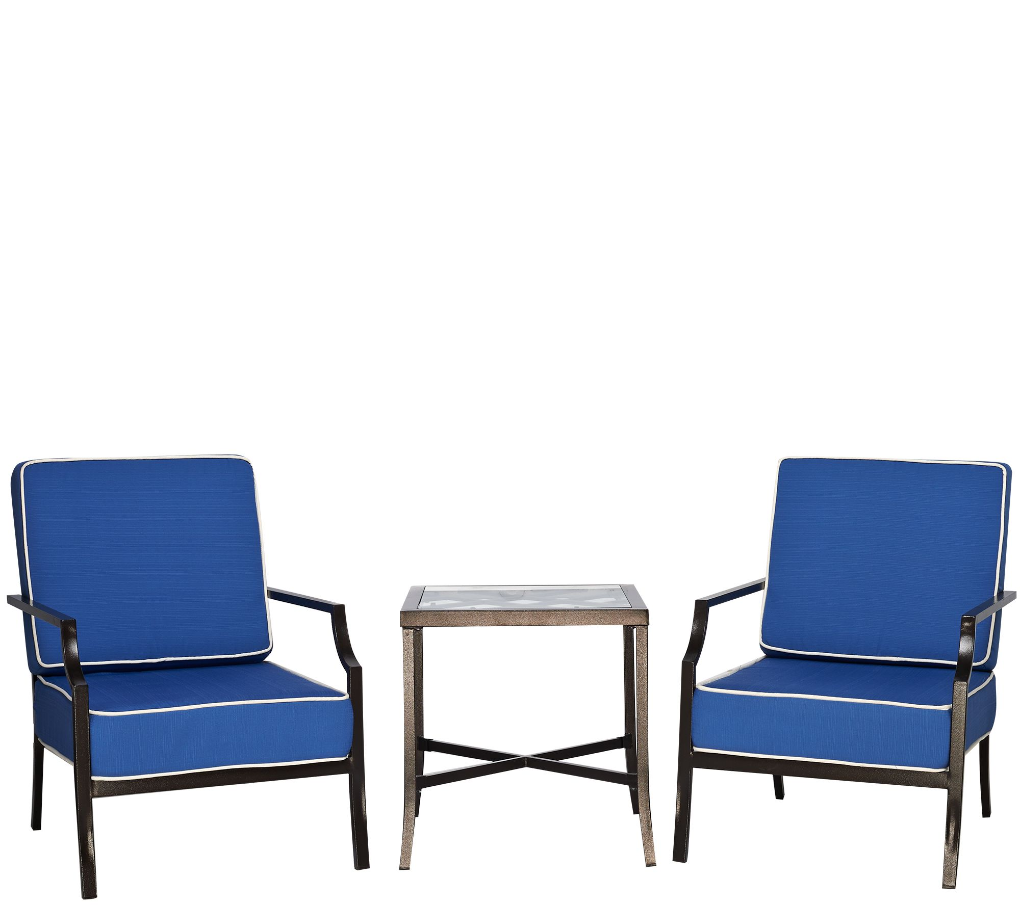 Scott Living 3 Piece Deep Seating Patio Set Page 1 — QVC
