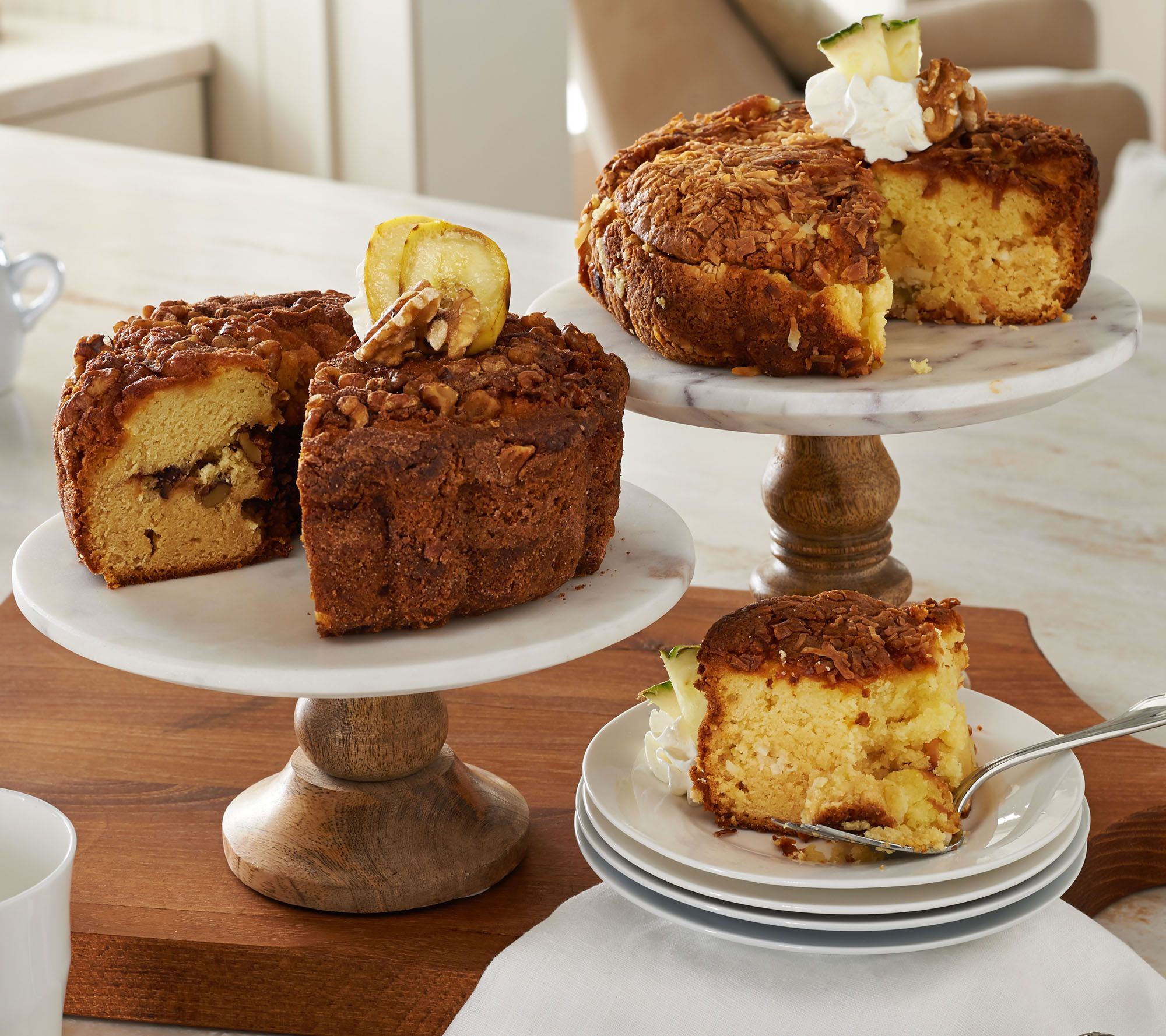 My Grandma's (2) 28oz Banana Walnut & Pineapple Coffee Cakes - Page 1...