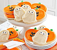 Cheryls 24-Piece Ghost/Jack-O-Lantern Frosted Cutout Cookies - M112962