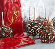 Mrs. Prindables 12 Holiday Caramel Apples withGift Bags - M115562